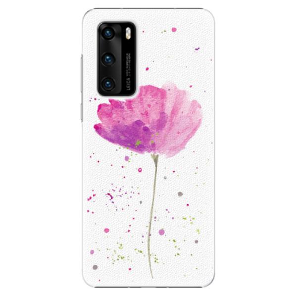 Plastové pouzdro iSaprio - Poppies - Huawei P40