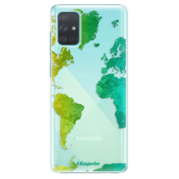 Plastové pouzdro iSaprio - Cold Map - Samsung Galaxy A71