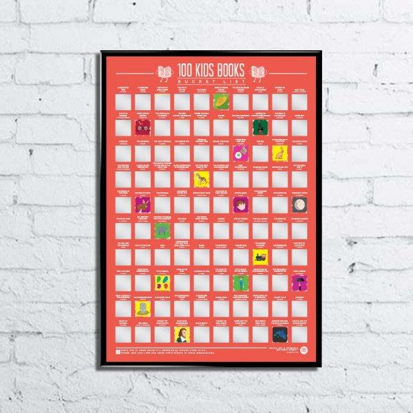 Stírací plakát 100 nejlepších dětských knih - Bucket list