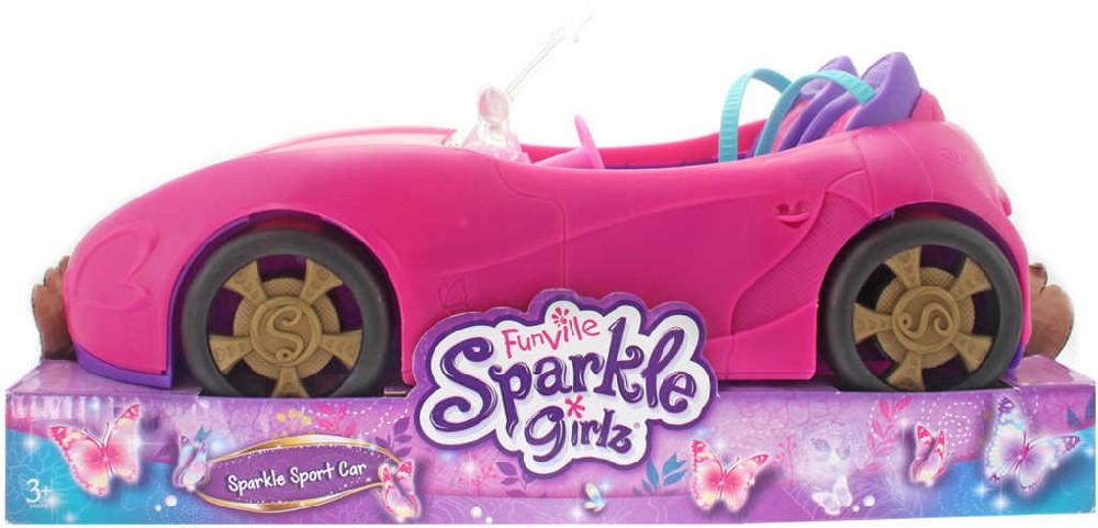 Sparkle Girlz auto závodní sportovní růžové plastový kabriolet