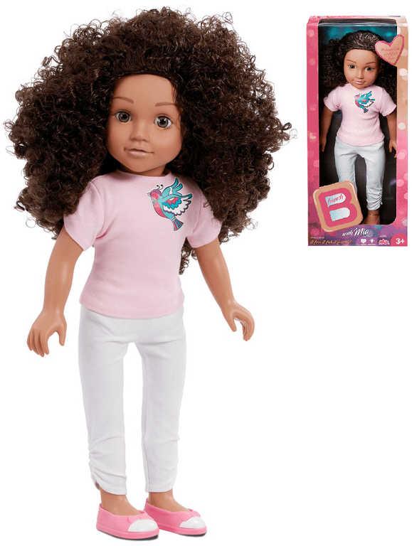 B-Friends panenka Mia 45cm tmavá pleť kudrnaté vlasy