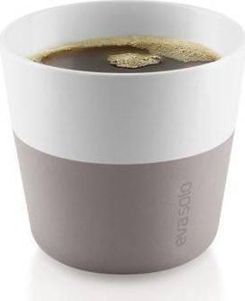 Hrnky na kávu Lungo teplá šedá 230ml, set 2ks, 501071 eva solo