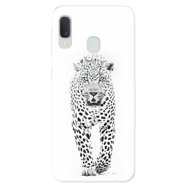 Odolné silikonové pouzdro iSaprio - White Jaguar - Samsung Galaxy A20e