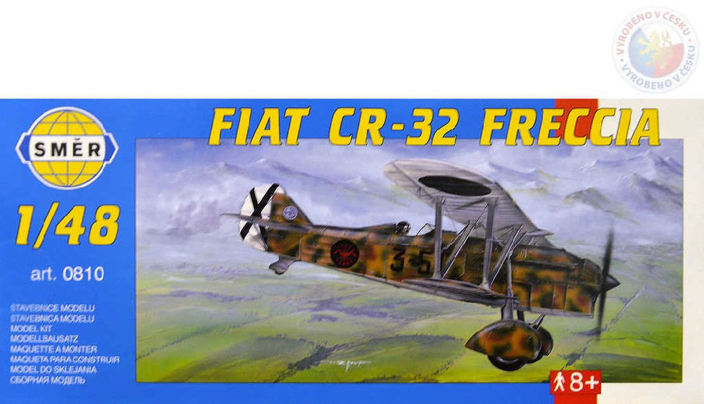SMĚR Model letadlo Fiat C.R.32 Frecia 1:48 (stavebnice letadla)