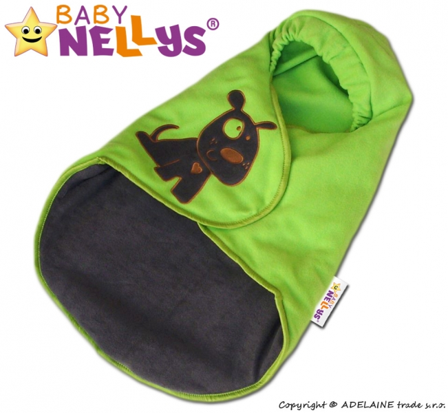 baby-nellys-fusak-zavinovacka-do-autosedacky-pejsek-zeleny