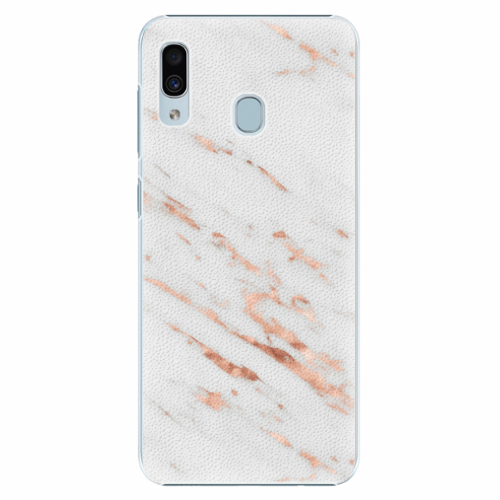 Plastový kryt iSaprio - Rose Gold Marble - Samsung Galaxy A30