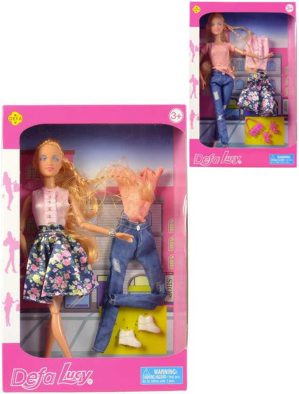 Defa panenka Lucy 30 cm set s oblečením a doplňky - 2 druhy