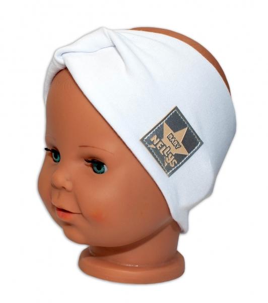 Baby Nellys Hand Made Bavlněná čelenka - dvouvrstvá