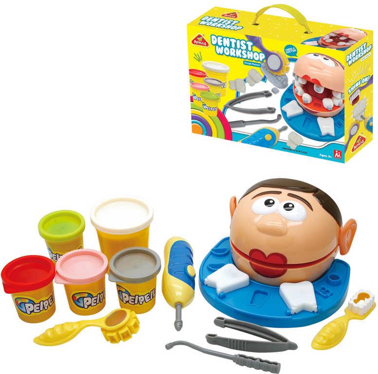 Zubní ordinace kreativní set modelína s nástroji v krabici