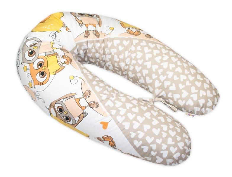 baby-nellys-kojici-polstar-relaxacni-poduska-multi-cute-owls-bezovy
