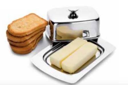 Dóza na máslo nerezová 19x12cm