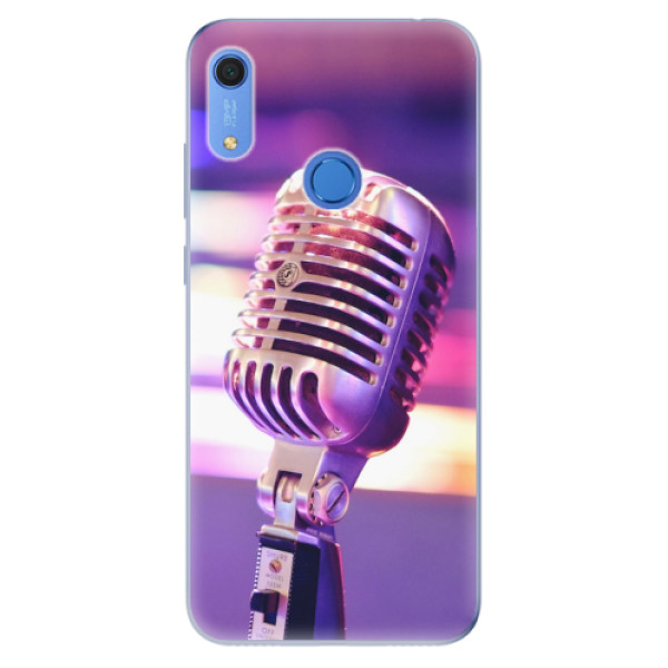 Odolné silikonové pouzdro iSaprio - Vintage Microphone - Huawei Y6s