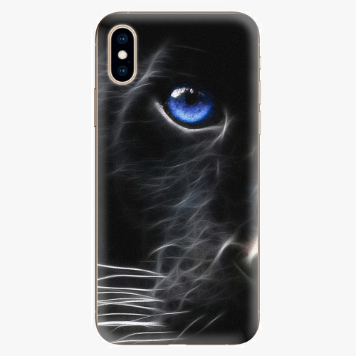 Silikonové pouzdro iSaprio - Black Puma - iPhone XS