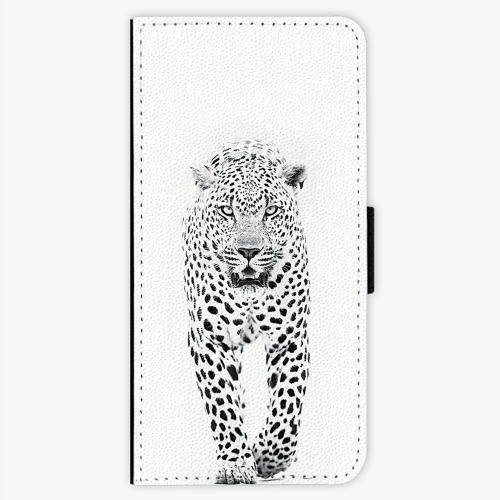Flipové pouzdro iSaprio - White Jaguar - Samsung Galaxy S7 Edge