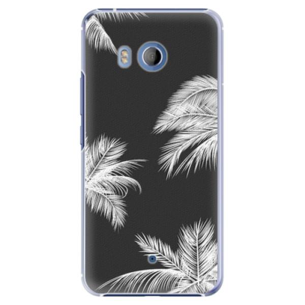 Plastové pouzdro iSaprio - White Palm - HTC U11