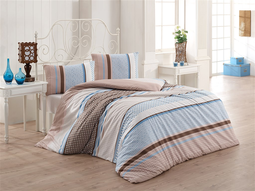 Přehoz přes postel jednolůžkový Penelopa béžovomodrá, Výběr rozměru:
