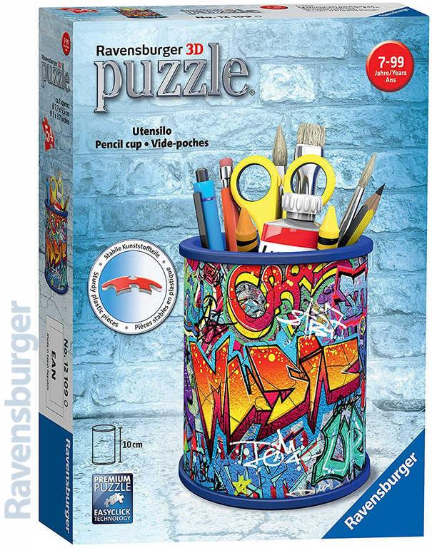 RAVENSBURGER Puzzle 3D Stojan na tužky holčičí Graffiti 54 dílků plast