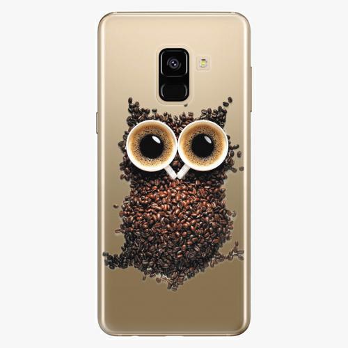 Plastový kryt iSaprio - Owl And Coffee - Samsung Galaxy A8 2018