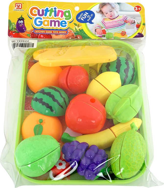 PL Ovoce a zelenina krájecí set s tácem a nožíkem na suchý zip plast