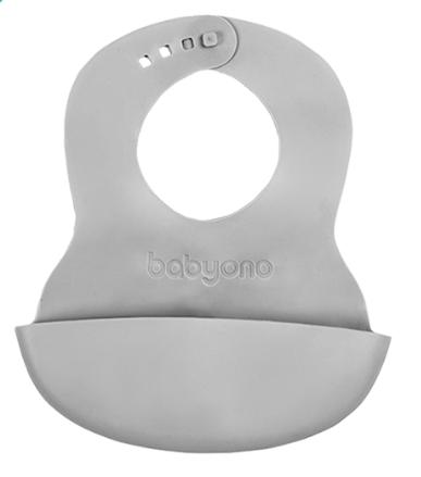 Silikonový bryndák BABY ONO - šedý
