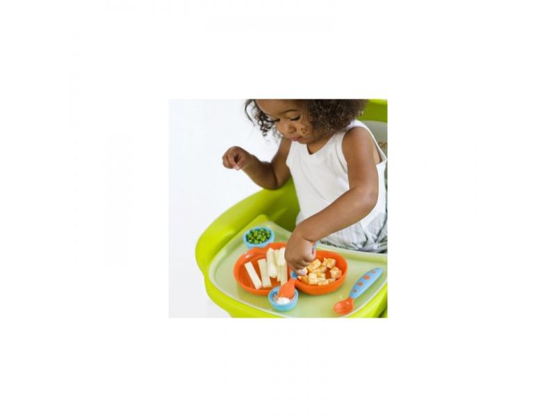 Boon - Kompletní jídelní sada pro děti modro-oranž