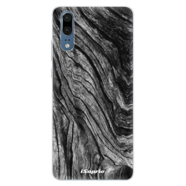 Silikonové pouzdro iSaprio - Burned Wood - Huawei P20