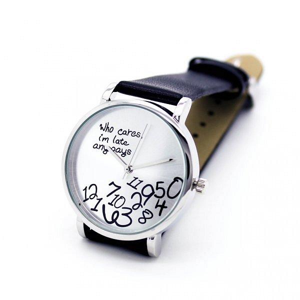 Hodinky - I am late anyway (Černé)