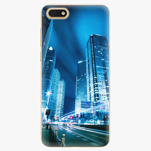 Plastový kryt iSaprio - Night City Blue - Huawei Honor 7S
