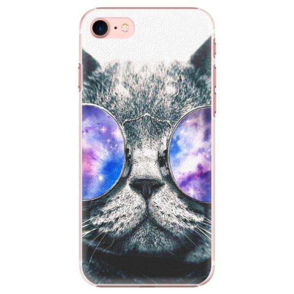 Plastové pouzdro iSaprio - Galaxy Cat - iPhone 7