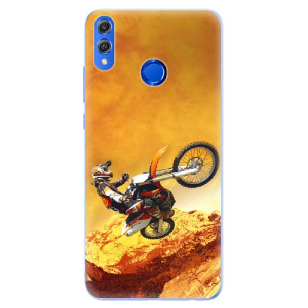 Silikonové pouzdro iSaprio - Motocross - Huawei Honor 8X