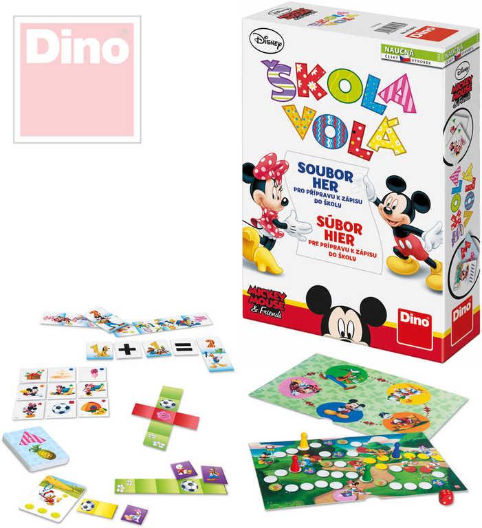 DINO Hra Škola volá soubour 3 her k přípravě dětí k zápisu do školy