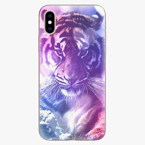 Plastový kryt iSaprio - Purple Tiger - iPhone XS