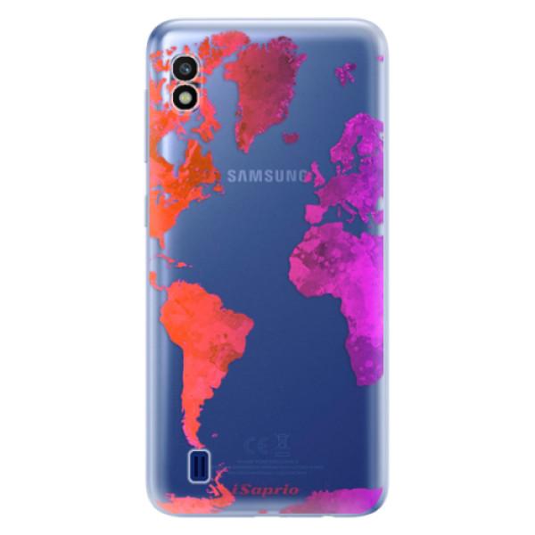 Odolné silikonové pouzdro iSaprio - Warm Map - Samsung Galaxy A10