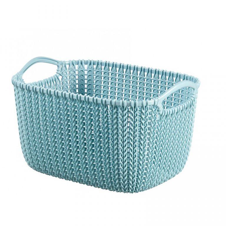 Košík KNIT 8L - modrý CURVER