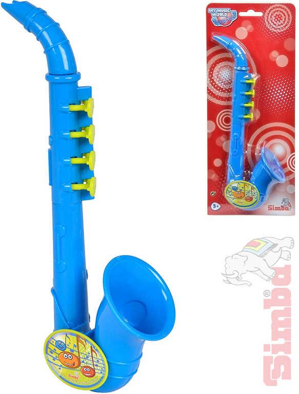 SIMBA Saxofon dětský 26cm modrý na kartě HUDEBNÍ NÁSTROJE