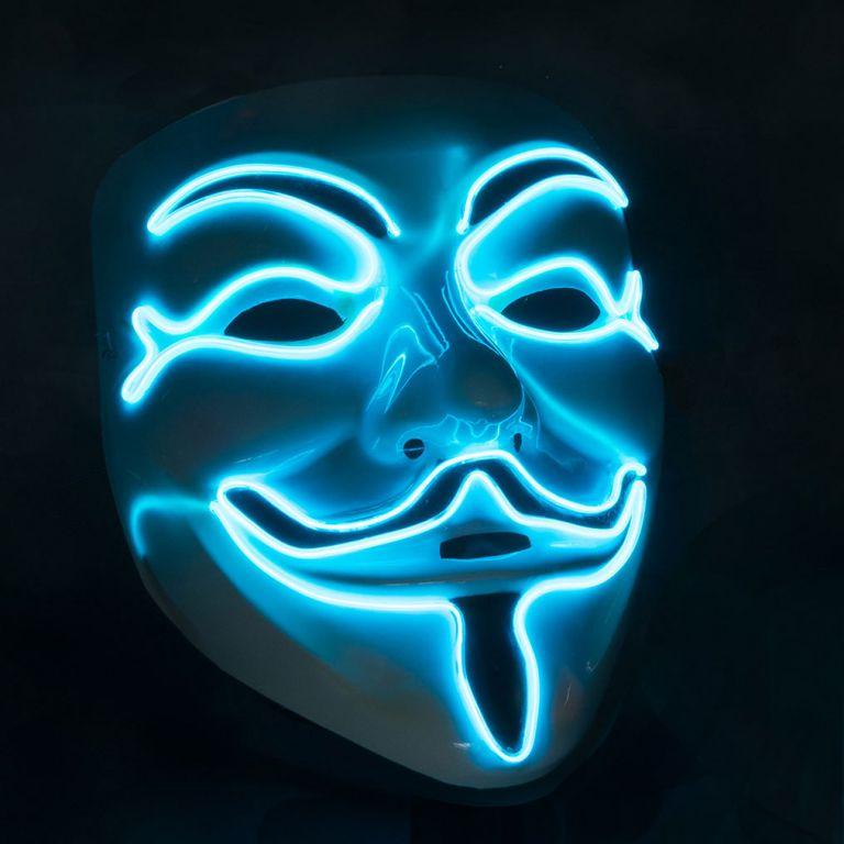 Maska se světelným LED efektem - anonymus