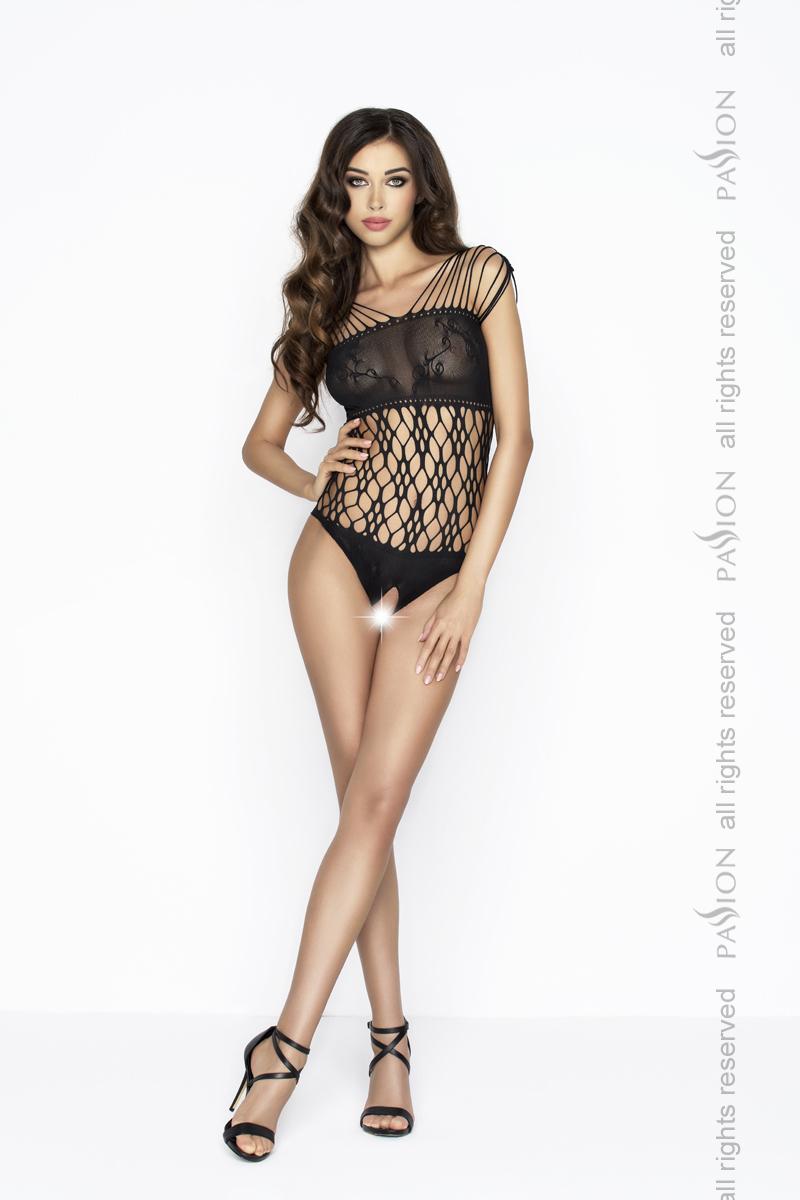 Černé erotické šaty Passion - BS035-univerzální