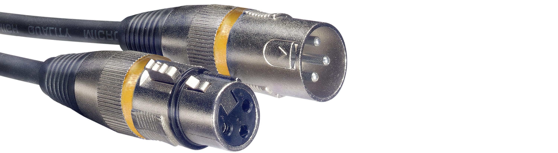 Stagg SMC6 YW, mikrofonní kabel XLR/XLR, 6m