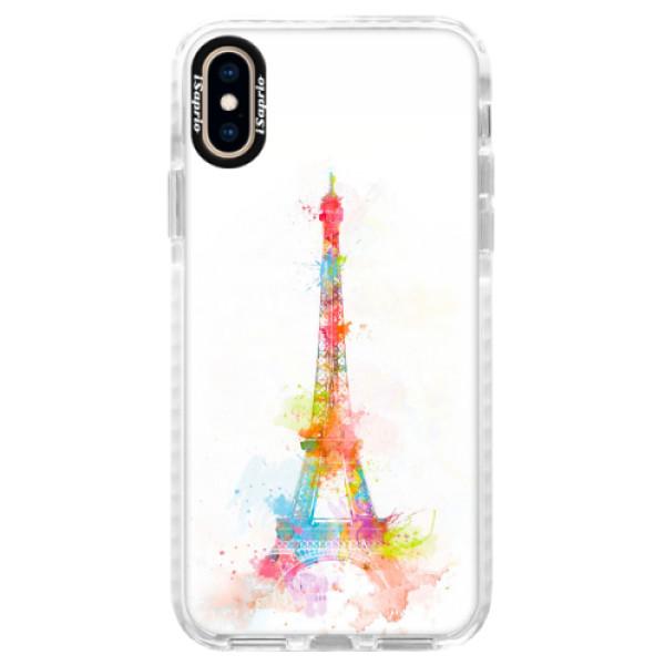 Silikonové pouzdro Bumper iSaprio - Eiffel Tower - iPhone XS