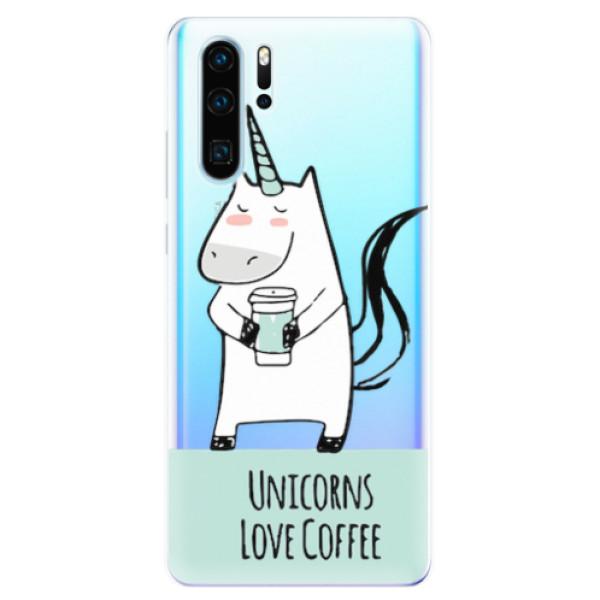 Odolné silikonové pouzdro iSaprio - Unicorns Love Coffee - Huawei P30 Pro