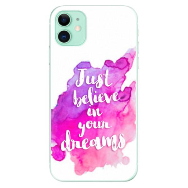 Odolné silikonové pouzdro iSaprio - Believe - iPhone 11