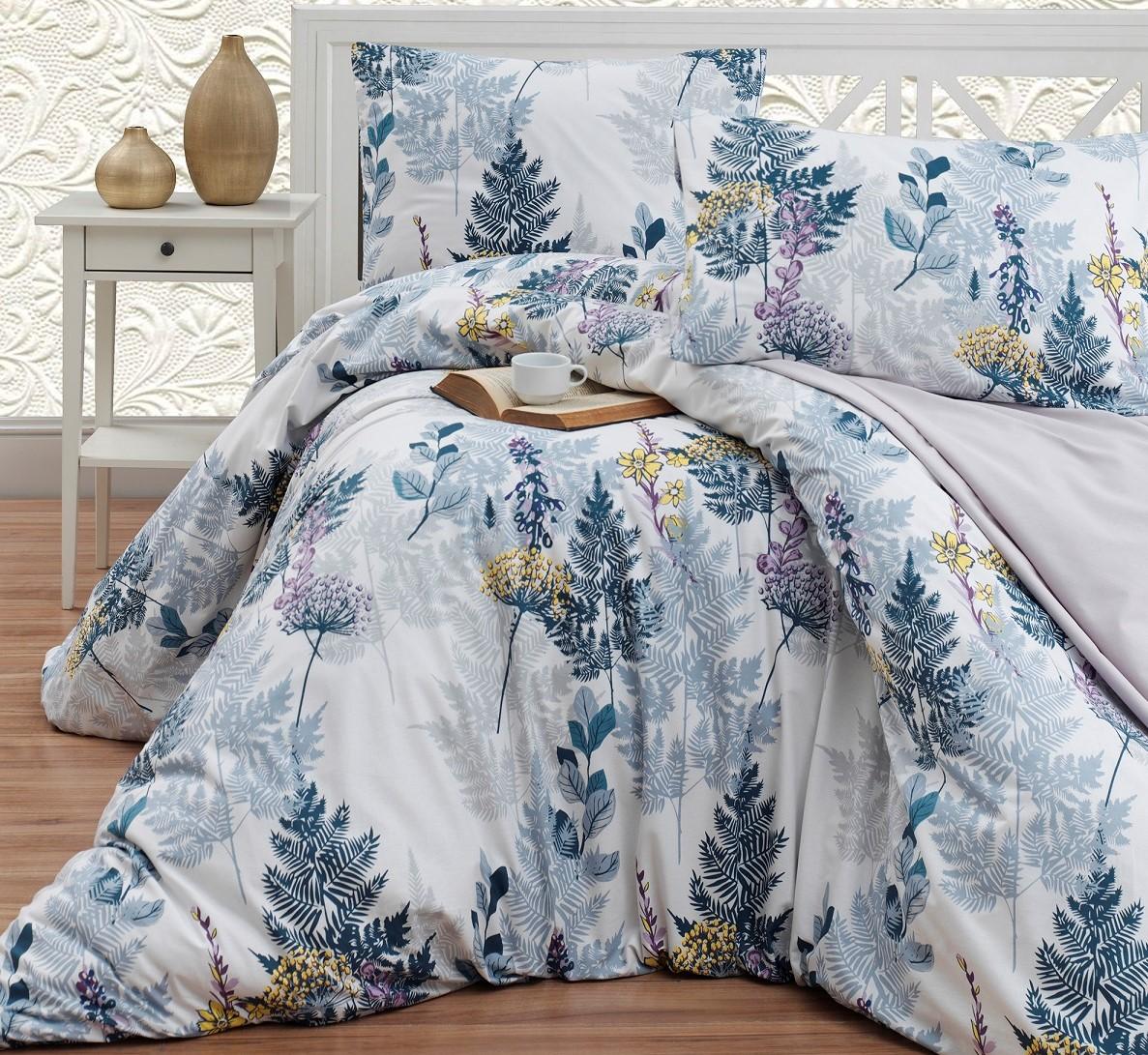 Prodloužené povlečení bavlna 140x220, 70x90cm Wood grey, Výběr zapínání: