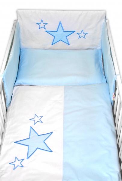 baby-nellys-mantinel-s-povlecenim-baby-stars-modry-vel-135x100-cm-135x100