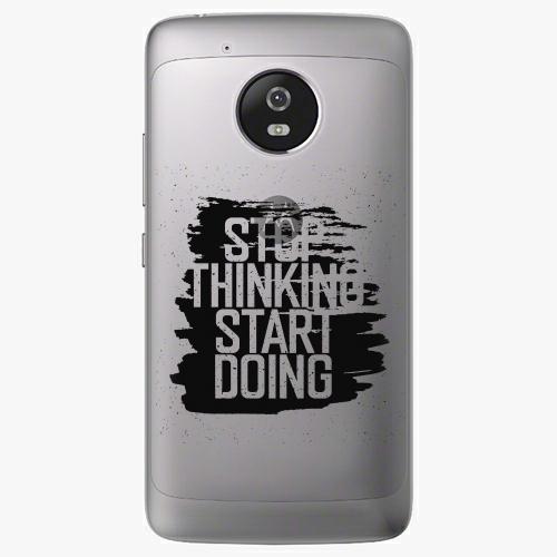 Plastový kryt iSaprio - Start Doing - black - Lenovo Moto G5