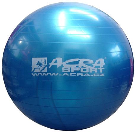 ACRA Míč gymnastický modrý 85cm fitness balon rehabilitační do 150kg