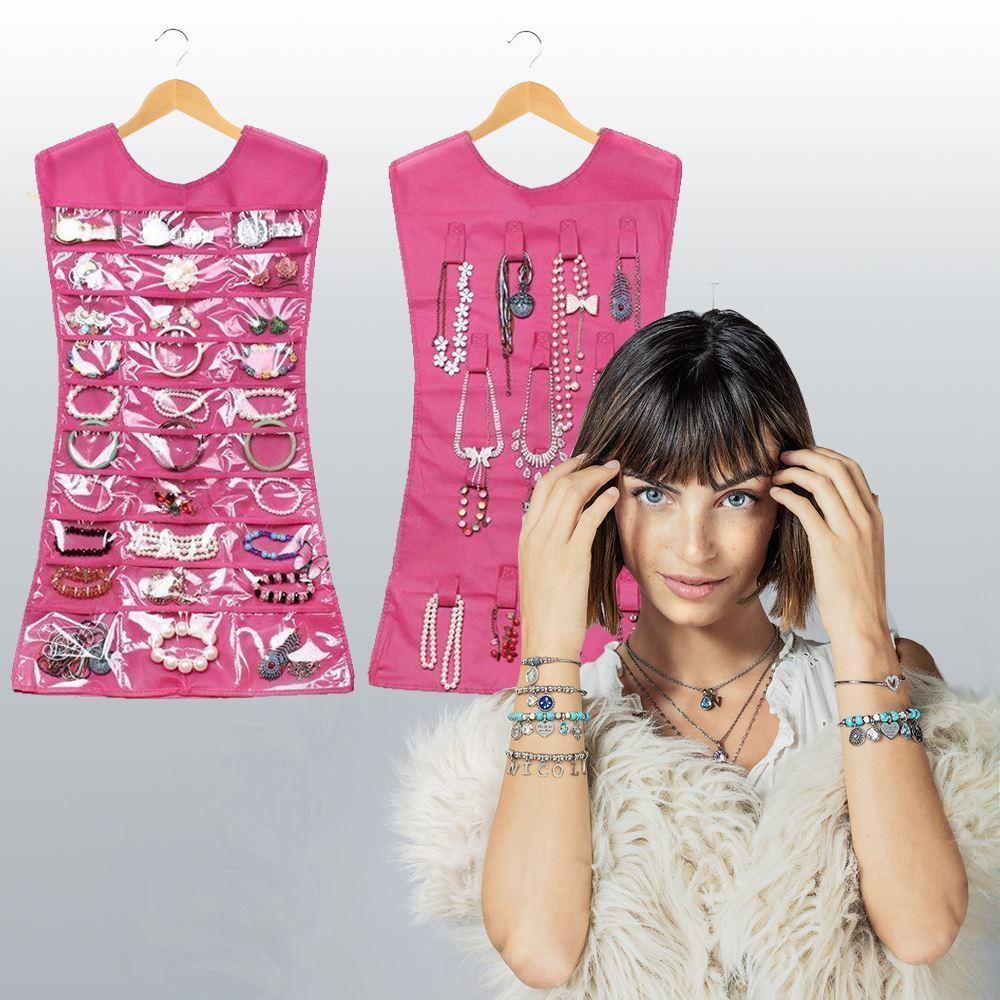 Organizér na šperky - růžová barva