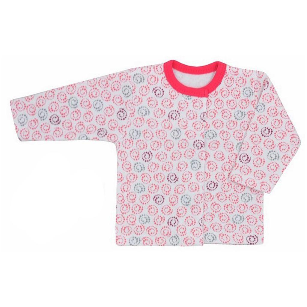 Kojenecký kabátek Koala Magnetky - malinový se spirálkami - růžová/68 (4-6m)