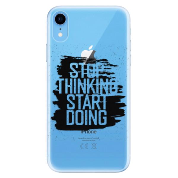Odolné silikonové pouzdro iSaprio - Start Doing - black - iPhone XR