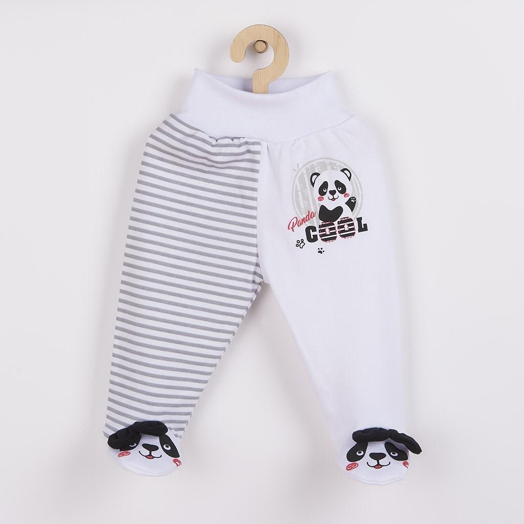 Kojenecké polodupačky New Baby Panda - šedá/62 (3-6m)