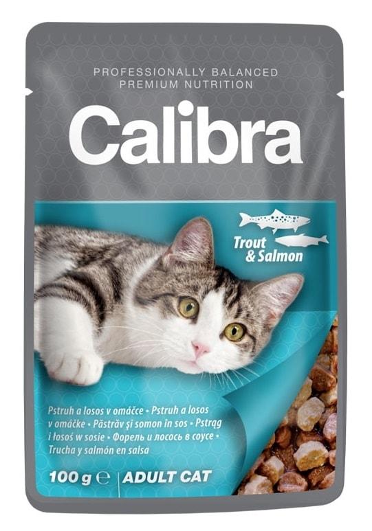 Calibra Cat kapsa pstruh a losos v omáčce 100g